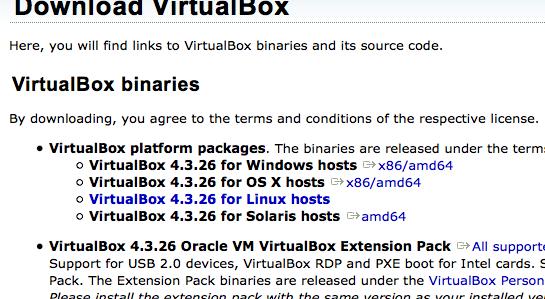 VirtualBoxバージョンは4.3.26