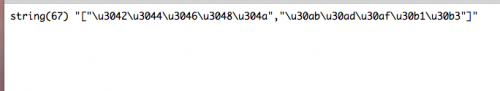JSONにエンコードされたデータ